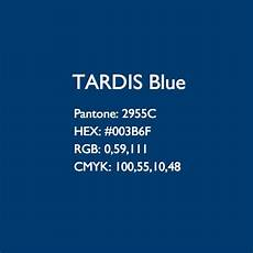 tardis 10th blue colour codes approved by pantone 2955c hex 003b6f rgb 0 59 111