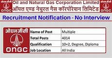 ongc recruitment 2020 apply online for ongc govt 2019 20