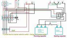 2 phase electrical wiring diagram how to start and run 3 phase motor in 2 phase