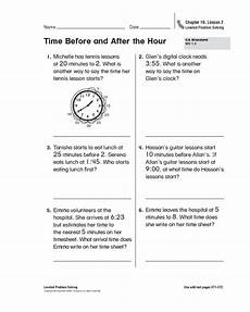 time before and after the hour worksheet for 1st 2nd