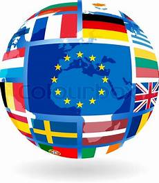 Flags Of Eu Countries On Globe Sphere Transparency