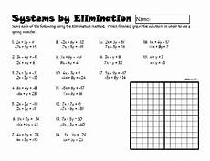 systems of linear equations by elimination from dawnmbrown teachersnotebook com 2 pages