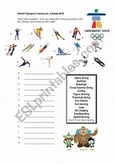 winter olympics esl worksheets 19995 2010 winter olympics vancouver reading esl worksheet by crm923