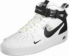 nike air 1 mid 07 lv8 shoes black white