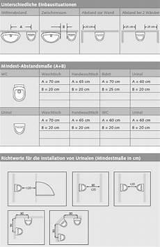 abstand wc wand professionelle planungshilfe f 252 r wc und urinalbereiche