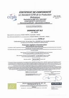 Certificat De Conformit 233 Biologique Producteur De Safran Bio