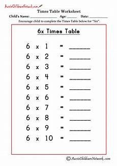 multiplication worksheets of 6 4538 multiplication times tables worksheets aussie childcare network