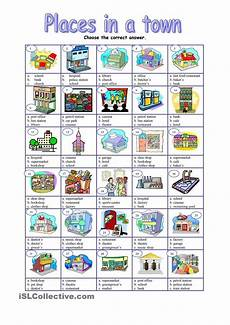 places in town writing worksheets 16040 places in a town esl worksheets of the day exercice anglais anglais