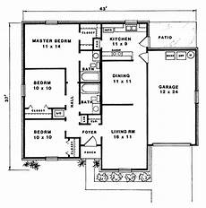 bungalow house plans with basement and garage traditional style house plan 96564 with 3 bed 2 bath 1