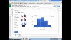 creating a histogram using google spreadsheets youtube
