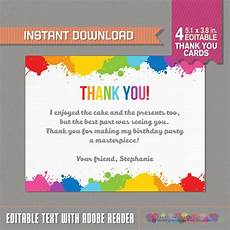 thank you cards birthday