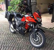 Kawasaki Versys 250 Modifikasi by Modifikasi Kawasaki Versys X 250 Ganti Velg Depan Tapak