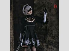Jual Costume Nier AUTOMATA 2B Lolita Dress Cosplay cewek