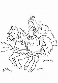 Malvorlagen Prinzessin Mit Pferd Kostenlose Malvorlage Prinzessin Prinzessin Reitet Auf