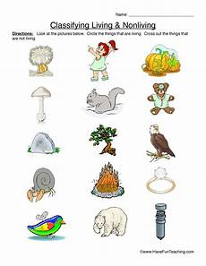 science worksheets living and nonliving things 12103 classifying living and nonliving things primary version worksheet living nonliving