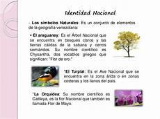 cuales son los simbolos naturales de lara identidad nacional venezolana