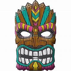 Tiki Mask 9in X 11in City