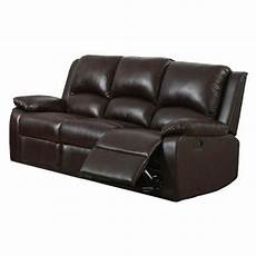 furniture of america oxford rustic brown faux leather