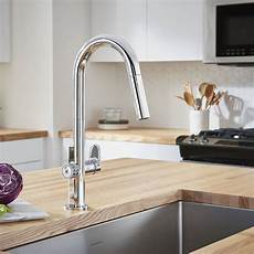 touch free faucets kitchen beale measurefill touch kitchen faucet 1 5 gpm american standard