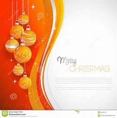 merry card with orange bauble stock vector