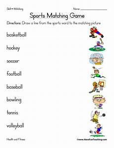 sports worksheets have fun teaching