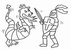 Malvorlage Ritterburg Mit Drachen Kostenlose Malvorlage Ritter Und Drachen Drache Und