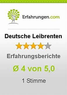 ᐅ Deutsche Leibrenten Erfahrungen Aus 1 Bewertungen 187 4 5