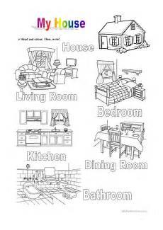 worksheets rooms 19037 my house worksheet free esl printable worksheets made by teachers
