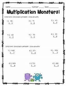 standard algorithm division 4th grade worksheets 6698 multiplying by 1 digit numbers worksheet multiplication math multiplication multiplication