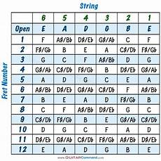 Guitar Strings Notes Chart Tab Info Master The Fretboard