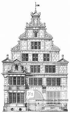 Historische Architektur Zeichnung Aus Dem 19 Jahrhundert