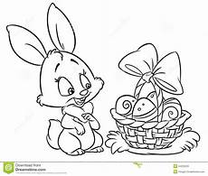 happy easter bunny coloring pages illustration