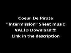 coeur de pirate quot intermission quot sheet music link in the