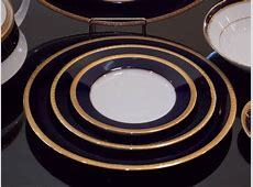 Group of Noritake Cobalt Blue and Gold Art Deco Style