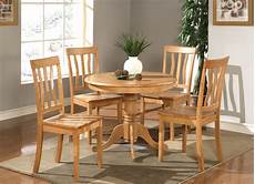 5pc dinette kitchen dining table with 4 plain seat chairs light oak ebay