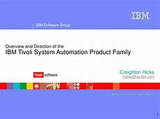 ppt overview and direction of the ibm tivoli system automation product family powerpoint