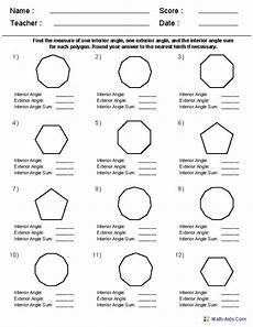 geometry worksheet polygon angle measures answers 11 best images about math pinterest coins area and perimeter and grade 2