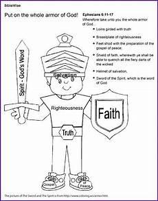 coloring the armor of god ephesians kids korner biblewise armor of god bible study for