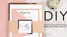 diy rose gold wedding invitations youtube
