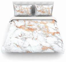 White And Gold Duvet Cover by Kess Original Quot Gold Flake Quot White Pink Featherweight