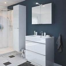 meuble sous vasque 224 poser blanc 80 x haut 82 cm