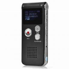 Rechargeable Digital Voice Recorder Mp3 Player Gray 8gb