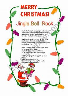 jingle bell rock esl worksheet by cassy