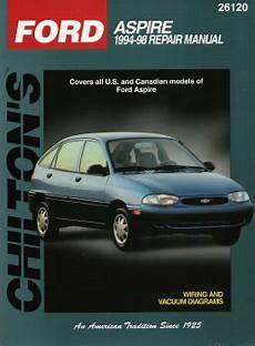 all car manuals free 1997 ford aspire parking system 1994 1997 ford aspire chilton s total car care manual