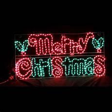 animated merry christmas motif rope light 105cm