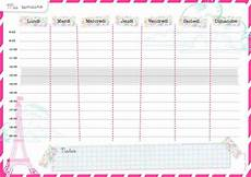 planning a imprimer t 233 l 233 charger modele de planning simple horaire hebdomadaire