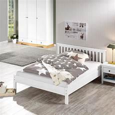 Weiße Betten 140x200 - bett luis 140x200 kiefer wei 223 lackiert d 228 nisches