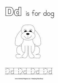 tracing alphabet d
