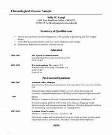 what is reverse chronological order of a resume
