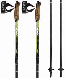 leki supreme adjustable nordic walking poles green black